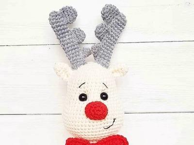 Crochet deer and Christmas tree free pattern