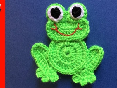 Crochet Frog Tutorial - How to make a Crochet Frog Applique