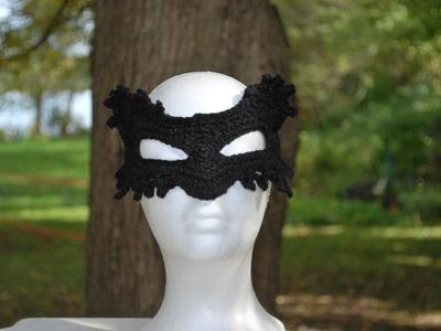 Crochet Masquerade Cat Mask