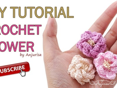 Crochet Simple Flower - Easy Crochet Flower for Headband
