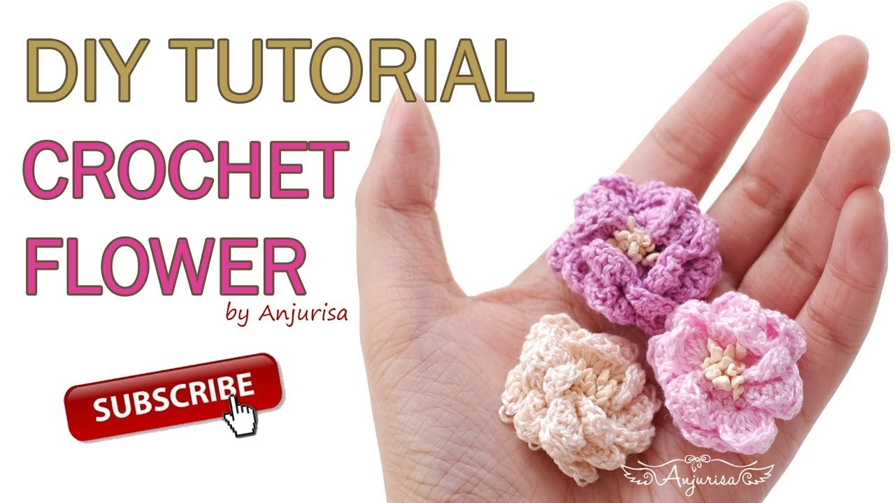 Crochet Simple Flower - Easy Crochet Flower for Headband