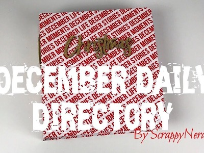 December Daily Directory | DIY Travellers Notebook and Inserts | ScrappyNerdUK