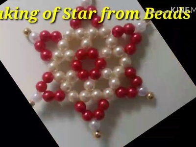 (Design#01) Making of Beads Star.Flower.DIY Easy Tutorial for how to make Beautiful Beads Star Craft