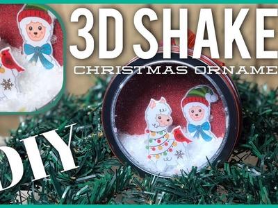 DIY 3D Shaker Christmas Ornament - Xmas Ornament Tin - Dollar Tree. Dollar General D.I.Y