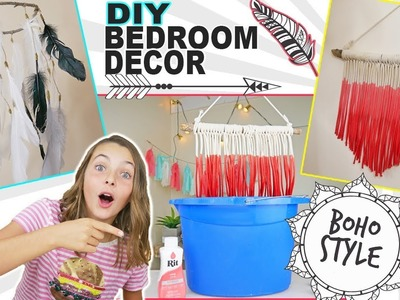DIY Bedroom Decor Ideas | Boho Chic Ombre Macrame Wall Hanging | Glam Crafts