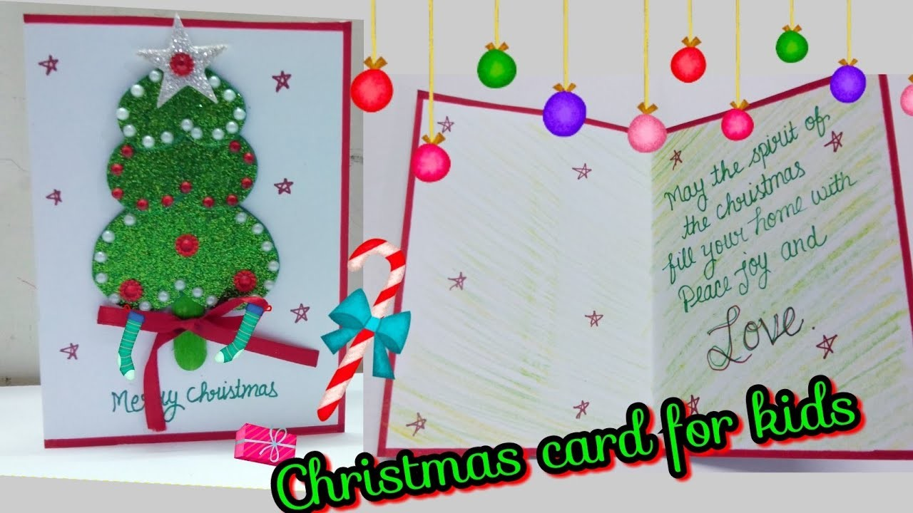 DIY Christmas card | Cute Christmas card | how to make Christmas card | Christmas card for kids