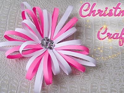 DIY Christmas Decor. How to make Paper Snowflake . Easy Fast DIY Christmas