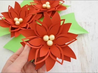DIY Christmas Poinsettia Paper Flower Tutorial - Holly Style