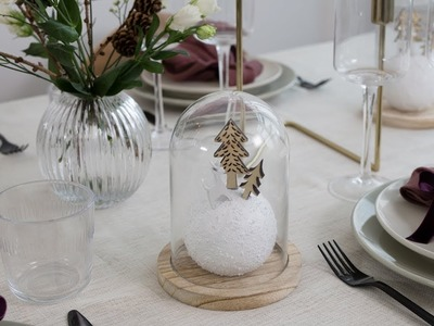 DIY : Christmas table with glass domes by Søstrene Grene
