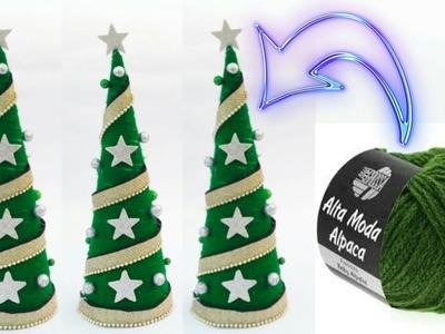 Diy Christmas tree | table top Christmas tree making | woolen Christmas tree | wool craft