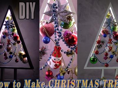 DIY CHRISTMAS TREES | HOW TO MAKE A WOODEN CHRISTMAS TREE $13 | Xmas Tree DIY Tutorial