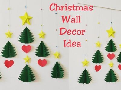 DIY Christmas Wall Decor Ideas.How to Make 3D Star & Christmas Tree Wall Hanging.DIY Wall Hanging