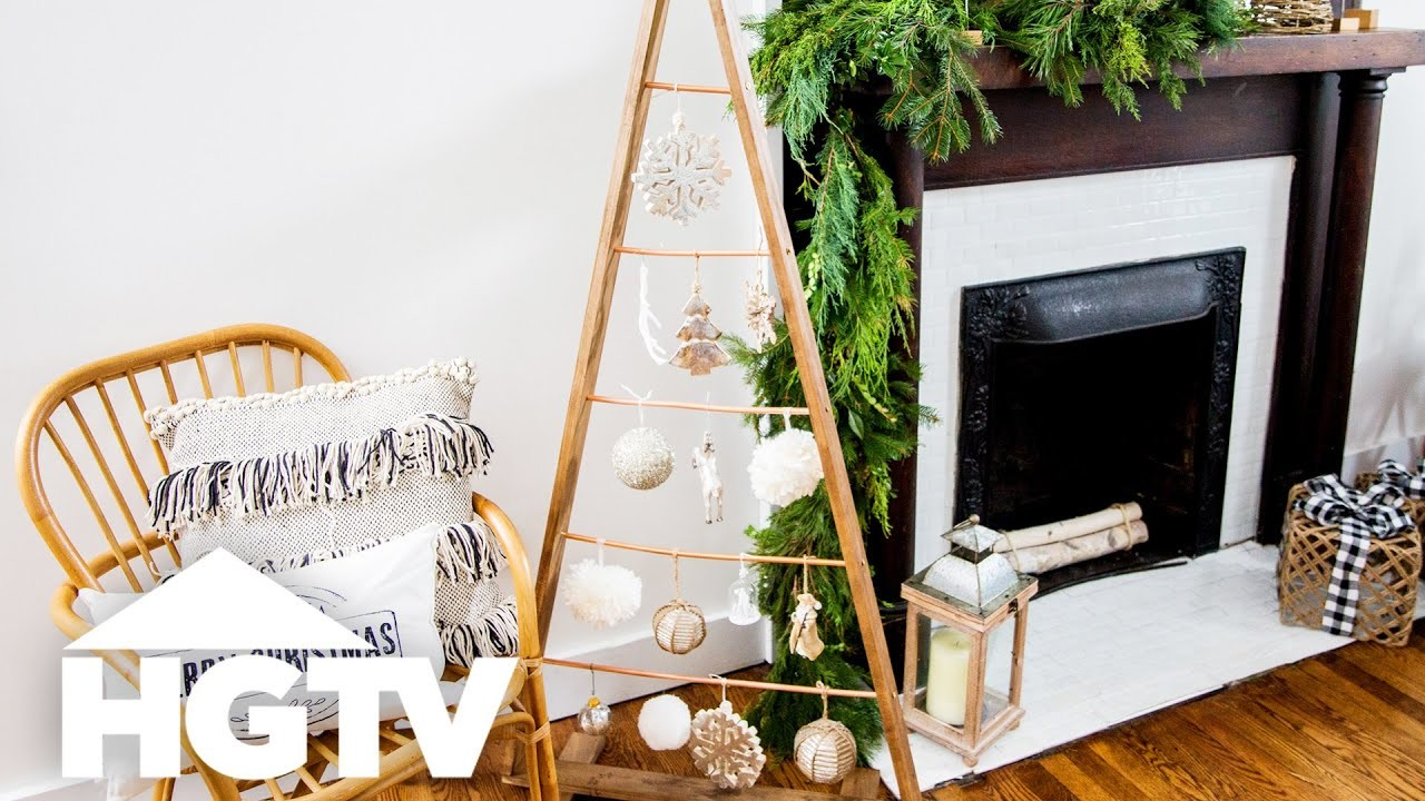 DIY Copper and Wood Faux Christmas Tree - HGTV Happy