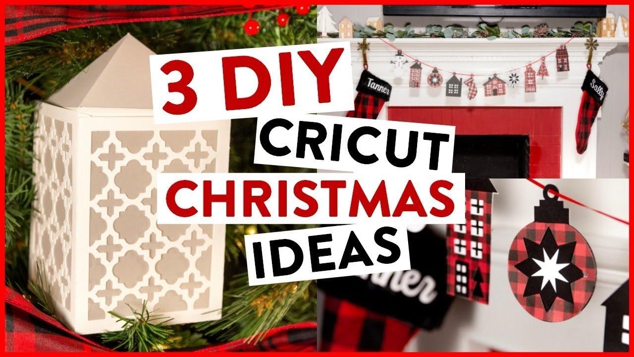 DIY CRICUT CHRISTMAS - 3 DIY CRICUT CHRISTMAS IDEAS