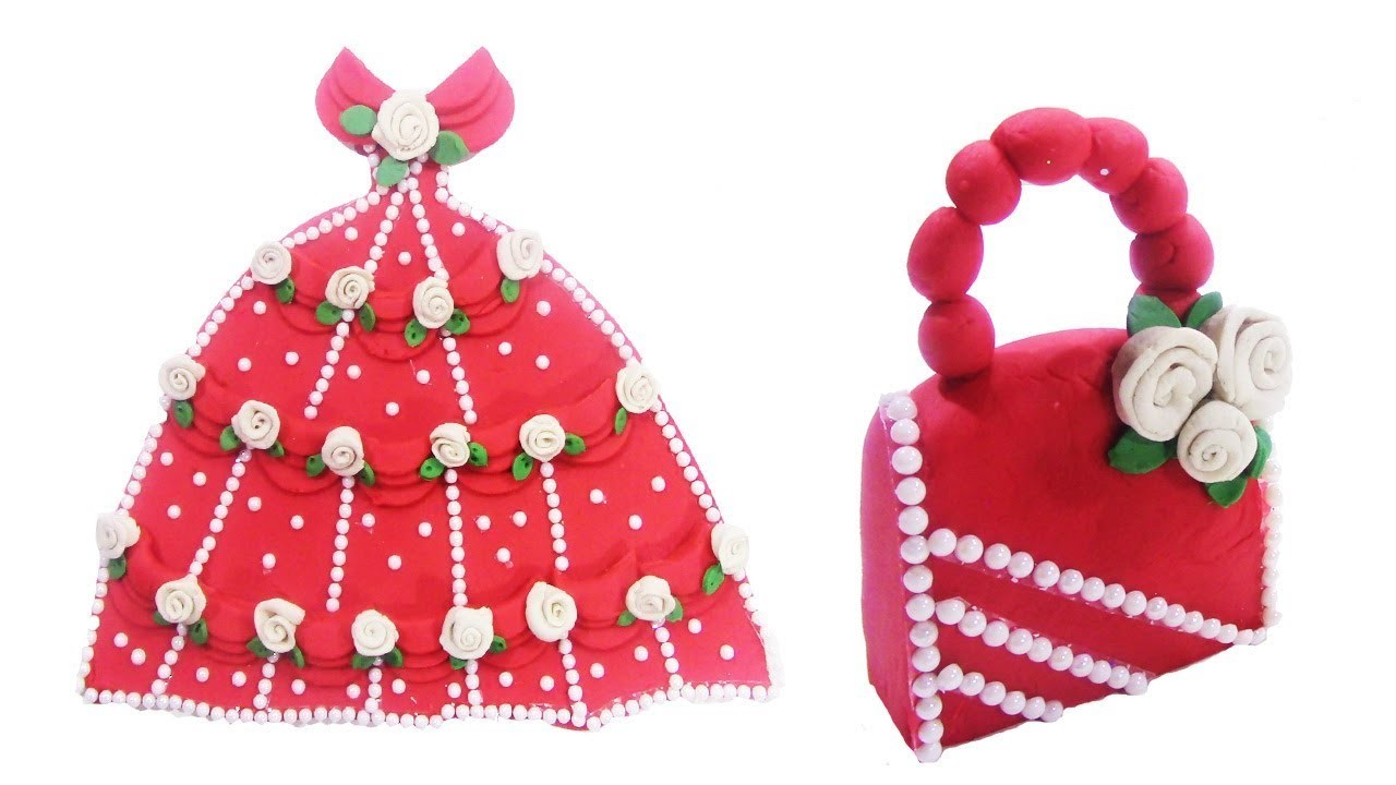 DIY Disney Princess Dress and Lady Bag with PlayDoh - Disney Dress and Lady Bag Tutorial