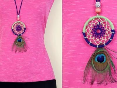 DIY Dream Catcher Necklace Making at Home | Handmade Ideas