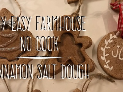 DIY EASY NO-Cook Cinnamon Salt Dough