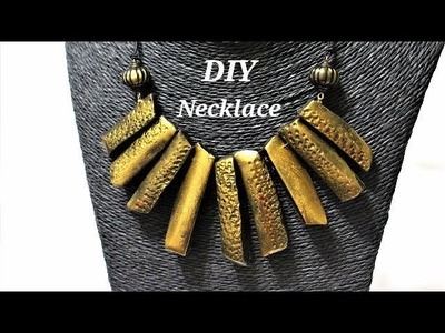 DIY   Easy To Make Polymer Clay Irregular Beads  Necklace | Jewelry Making Tutorial