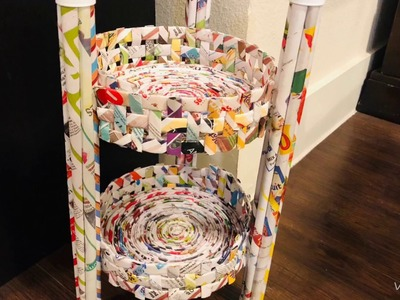 DIY Grab your newspapers and recycle them with this new ????.newspaper crafts.best out of waste