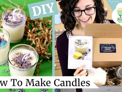 DIY Holiday Gift: Making Candles! My first time making candles from a DIY kit.