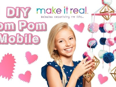 DIY How to Make a Pom Pom Mobile from Make It Real