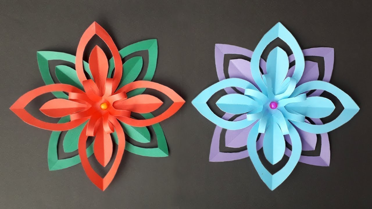 DIY: How to make an easy paper snowflake, 3d paper snowflakes, Paper