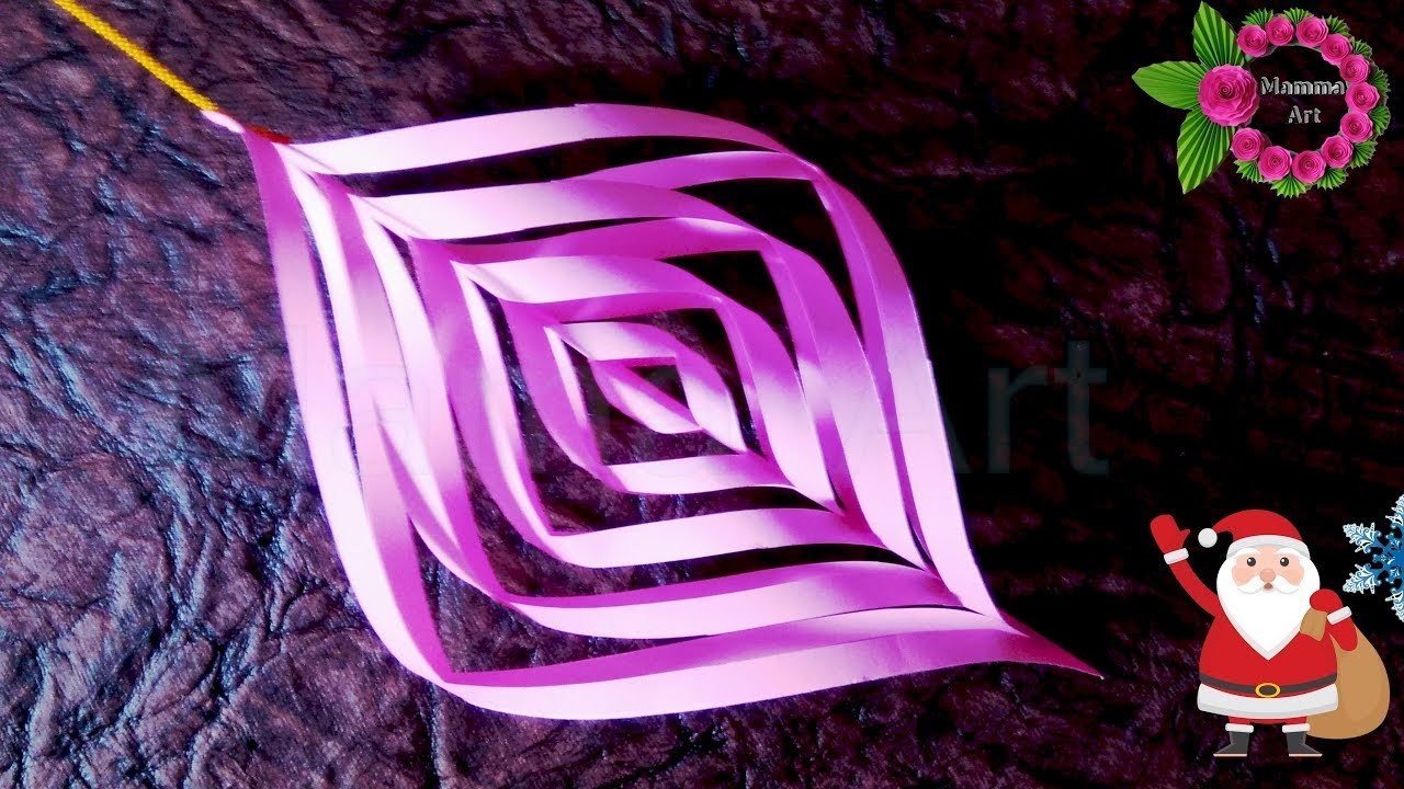 DIY - How to make from paper   ✽ Christmas Flashlight 3D ✽ New Year Flashlight 3D - Super Class