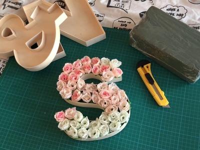 DIY I Floral Letters I Wedding Inspired #shakiraxrocky