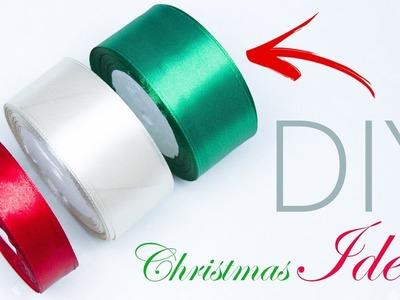 DIY Ideas for Christmas Tree Decorations | Ribbon Christmas ornament | Beads art