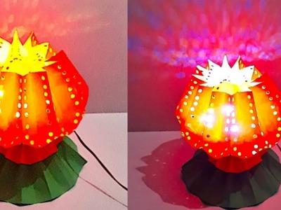 DIY - Lotus shape Lantern.Tealight Holder from paper | DIY Christmas Decorations Idea