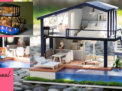DIY Miniature Modern Dollhouse 4 Rooms -  Time Apartment with pool | LIGHTAKE.COM