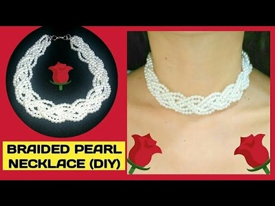 DIY: NECKLACE FOR BRIDES????.HOW TO MAKE BRAIDED PEARL NECKLACE.JEWELRY MAKING JOCELYN DIY CREATIONS