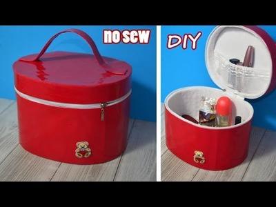 DIY ORGANIZER ZIPPER BOX NO SEW bag for cosmetics.Travel Bag Design Tutorial