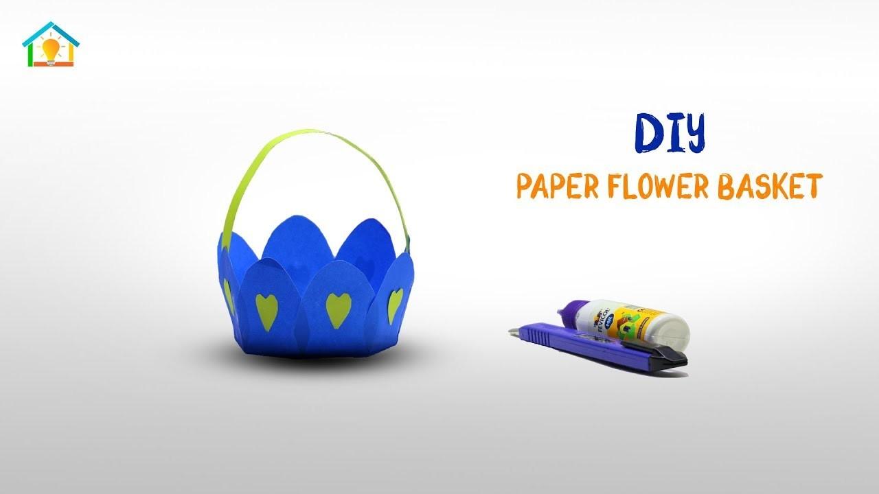 DIY Origami Flower Basket | How To Make Origami Paper Flower Basket | Crafts Do It