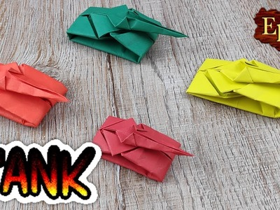 DIY Paper Tank Model | How to Making Paper Battle Tank Toy | Kids Handmade Origami Easy Tutorials