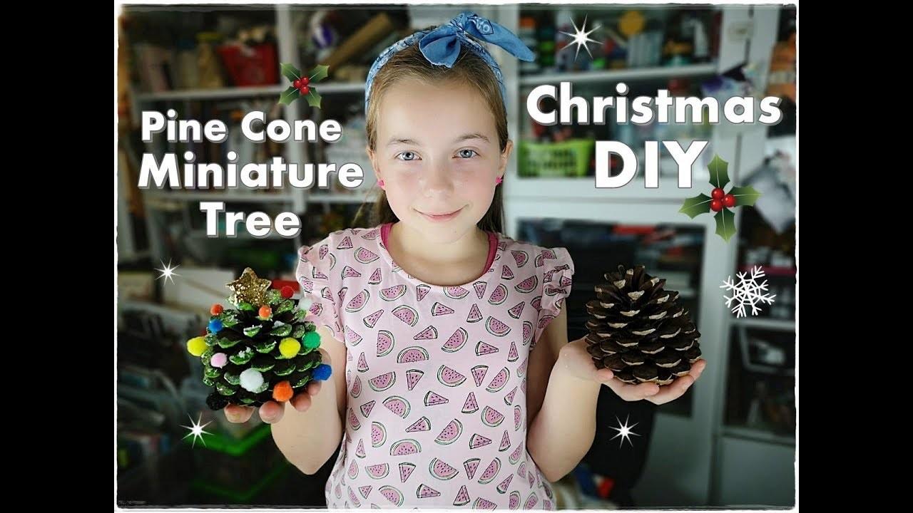 ???????????? DIY Pine Cone Miniature Christmas Tree for Kids ❀ Emily's Small World ❀