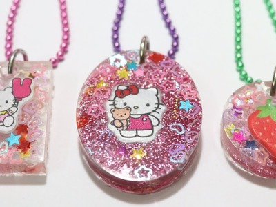 DIY Resin Charm. Hello Kitty Resin Pendant. Resin Tutorial