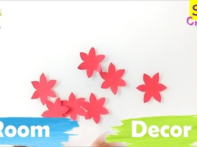 Diy room decor idea with paper | very easy to make paper crafts for decoration | Easy flower decor