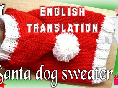 DIY Santa Dog Sweater - Knitting (English)