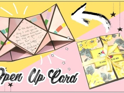 DIY Super Easy Open up Card Tutorial | Pop Up Card for Scrapbook | By The Craft Gallery India