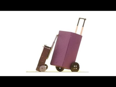 DIY Travel Luggage I How to make a Toy Suitcase I Rolling Luggage Toy for kids | Miniature Furniture