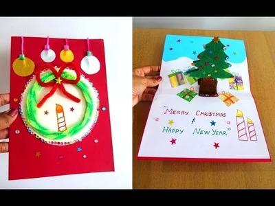 DIY X'MAS & NEW YEAR POP UP CARD Tutorial ~ Handmade Card Making Ideas ~ Step by Step .