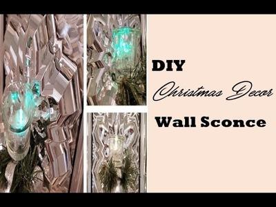 Dollar Tree Wall Sconce- DIY Christmas Decor- 12 Days of Christmas DIY