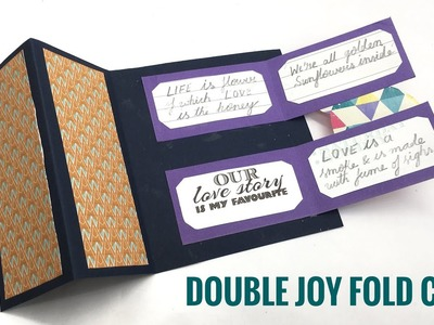 Double Joy Fold Card - DIY Tutorial by Paper Folds - 957
