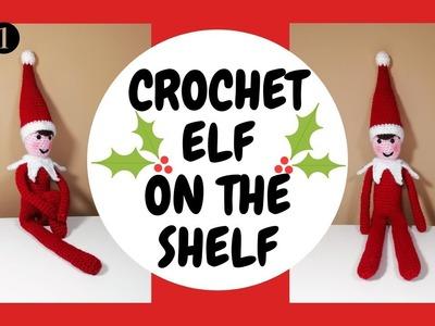 EASY CHRISTMAS ELF ON THE SHELF CROCHET TUTORIAL - PART ONE