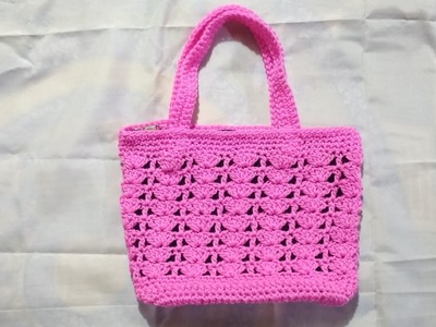 Easy crochet cord bag