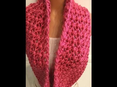 Easy crochet infinity scarf for beginners