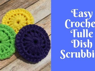 Easy Crochet Projects: Crochet Tulle Dish Scrubbies