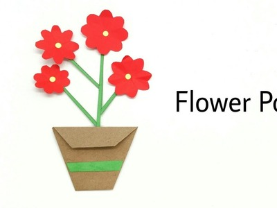Easy DIY Flower Pot for decoration - Tutorial by Paper Folds — 948