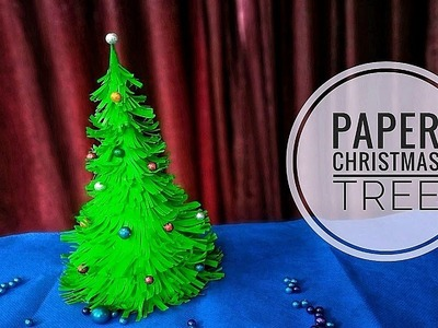 Easy Paper christmas treel DIY Christmas decorations ideas using paper| Table top Christmas tree